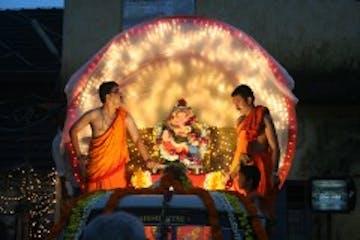 Festival de ganesh em Manipal 1